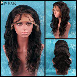 Siv Hair Long Side Bang Shaggy Wavy Full Lace 100 Percent Human Hair Wig