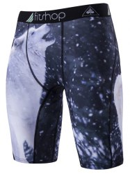 Polar Bear Printed Stretch Cycling Shorts