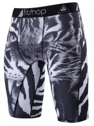 Stretch Tiger Print Cycling Shorts