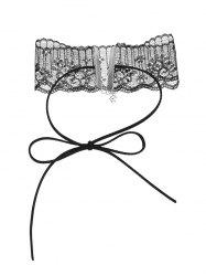 Adjustable Lace Bowknot Choker Necklace