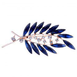 Faux Crystal Tree Leaf Shape Design Brooch