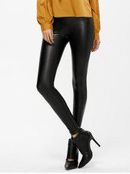 Skinny Faux Leather Ninth Leggings