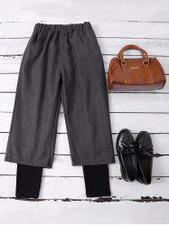 Layered Elastic Waist Wide Leg Pants