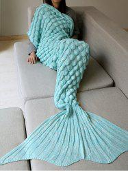 Fish Scale Crochet Knit Warm Long Mermaid Blanket Throw
