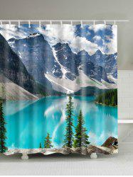 3D Nature Landscape Waterproof Polyester Bath Curtain