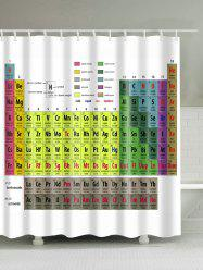 Bath Decor Chemical Element Print Waterproof Shower Curtain - WHITE