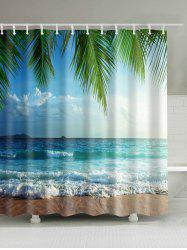 Beach Scenery Waterproof Polyester Bath Curtain - COLORMIX