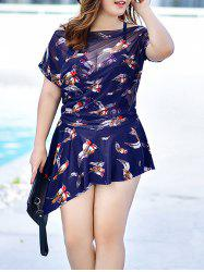 Plus Size Print Two Piece Swimwear