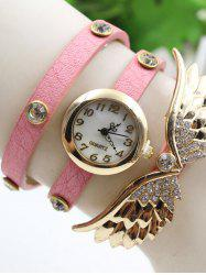 Rhinestone Angel Wings Numerals Retro Bracelet Watch