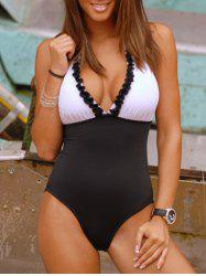 Halter Neck Ruffle One Piece Swimwear