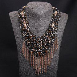 Rivets Fringed Accessories Chain Statement Necklace