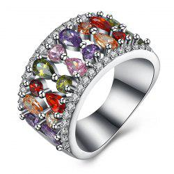 Rhinestone Circle Artificial Gem Ring