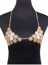 Rhinestone Flower Bra Beach Body Jewelry