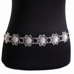 Flower Body Jewelry Belly Chain - SILVER