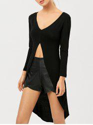 High-Low Long Sleeve Asymmetrical Dress