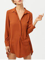 Long Sleeve Self Tie Tunic Casual Dress