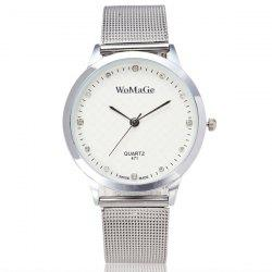 Rhinestone Stainless Steel Wrist Watch - WHITE