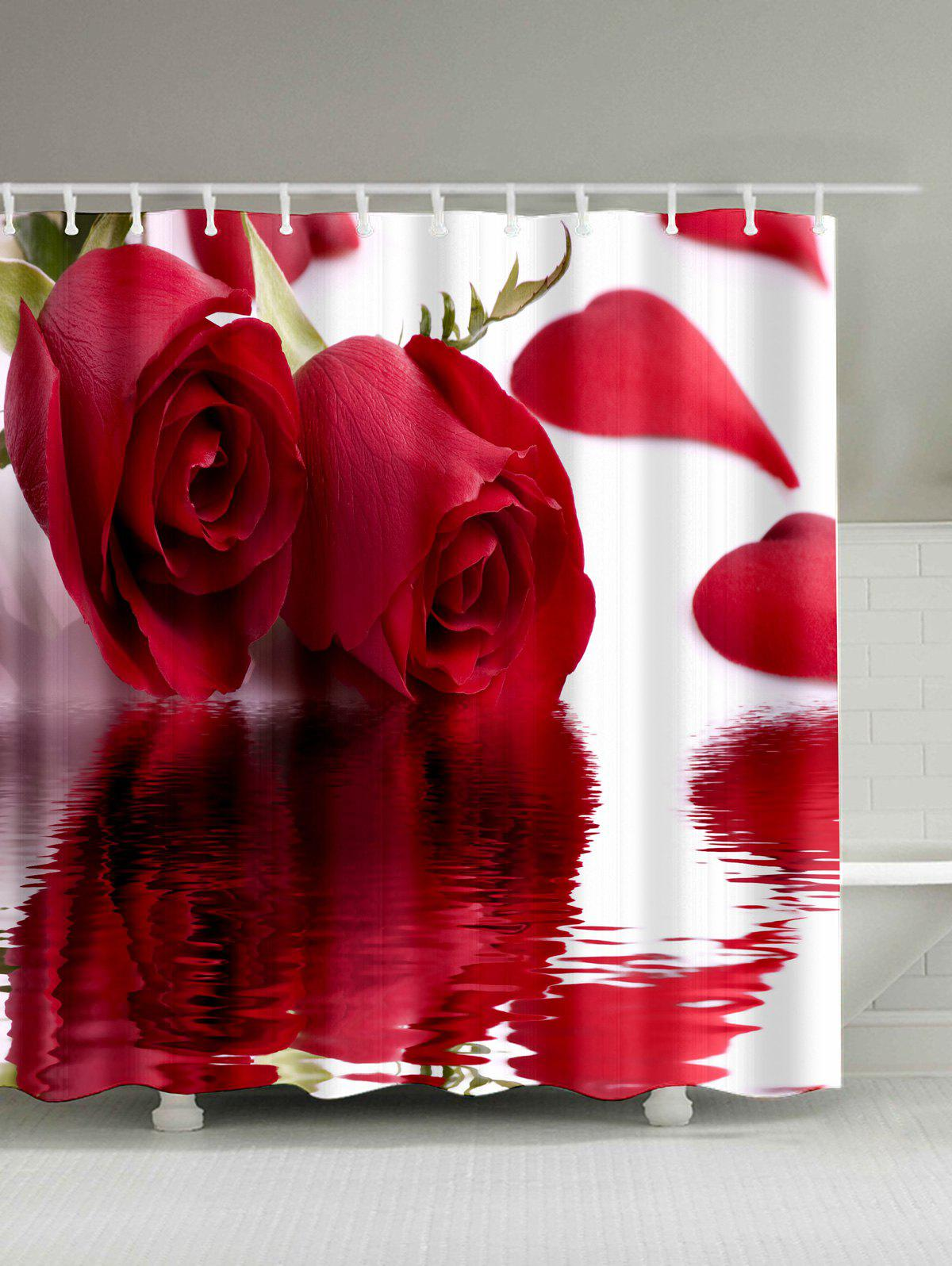 Outfit Roses Inverted Image Print Vivid Shower Curtain