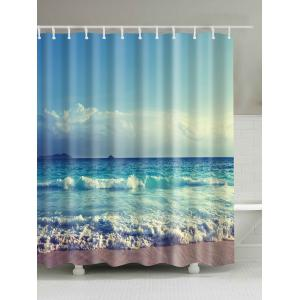 Ocean Print Waterproof Mouldproof Shower Curtain - Colormix - 180cm*180cm