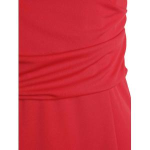 OL Style V-Neck Bodycon Work Midi Dress -