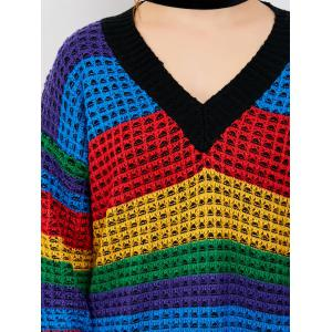 Rainbow Chunky Knit Sweater -