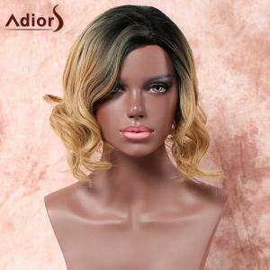 Adiors Medium Side Parting Shaggy Wavy Colormix Synthetic Wig