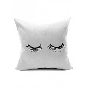Concise Eyelash Pattern Throw Cover Pillow Case