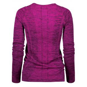 Space Dye Long Sleeve Running Top -