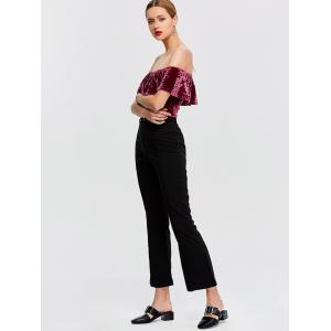 Overlay Velvet Off The Shoulder Bodysuit -