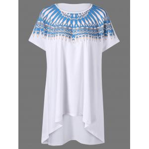 Plus Size Tribal Print Tunic T-Shirt