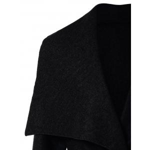 Shawl Collar Belted Wrap Coat -