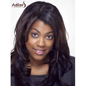 Adiors Long Side Parting Colormix Wavy Shaggy Synthetic Wig