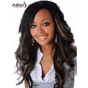 Adiors Long Colormix Oblique Parting Fluffy Wavy Synthetic Wig