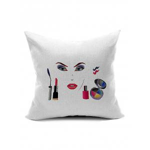 Women Cosmetic Pattern Cushion Cover Pillow Case