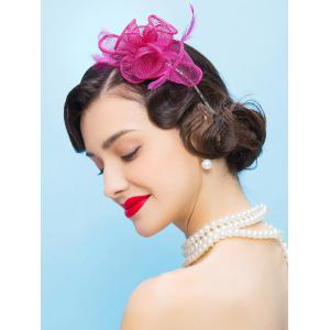 Fascinator Cocktail Hairband Flax Hat -