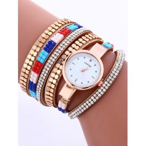 Layered Studded Bracelet Watch