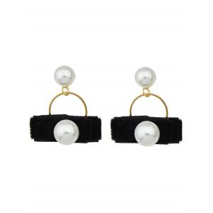 Artificial Pearl Velvet Earrings