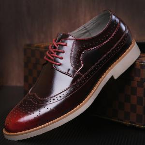 Wingtip PU Leather Formal Shoes -