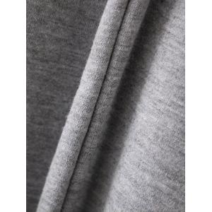 Bell Sleeve Pullover Hoodie - GRAY L