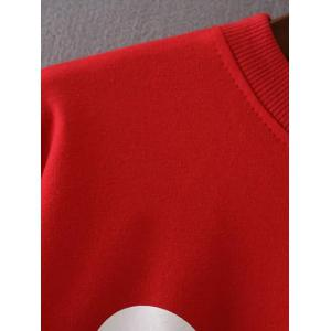 Cropped Selfie Graphic Sweatshirt - RED S