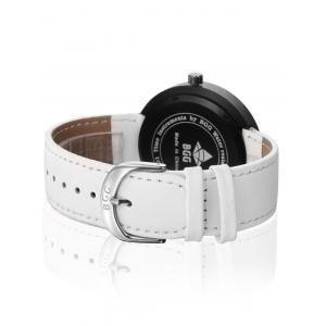 Faux Leather Long Analog Big Dial Watch -