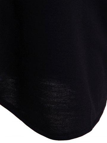 Best Fashionable Solid Color Long Sleeve Loose-Fitting Hoodie For Women - 5XL BLACK Mobile