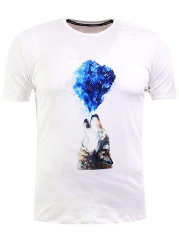 Shops Wolf Print Short Sleeve T-Shirt