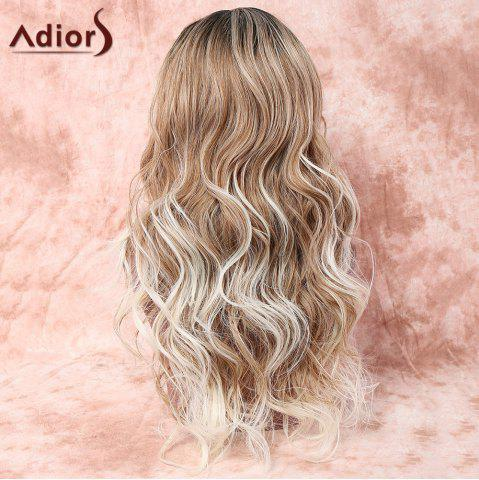 New Adiors Long Side Parting Layered Wavy Colormix Synthetic Wig - COLORMIX  Mobile