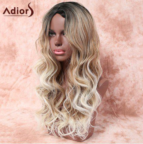 Latest Adiors Long Side Parting Layered Wavy Colormix Synthetic Wig - COLORMIX  Mobile