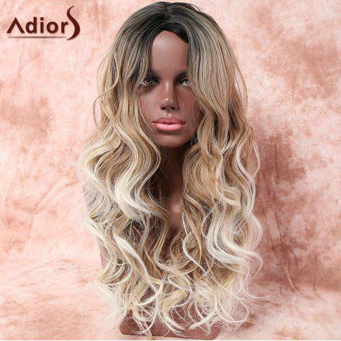 Online Adiors Long Side Parting Layered Wavy Colormix Synthetic Wig - COLORMIX  Mobile