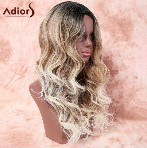 Outfits Adiors Long Side Parting Layered Wavy Colormix Synthetic Wig - COLORMIX  Mobile