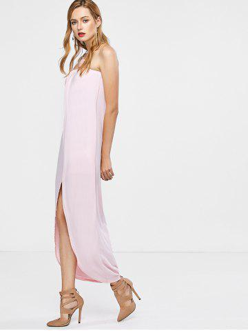 Cheap Open Back Strapless Dress - M PINK Mobile