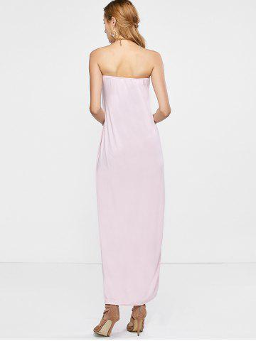 Sale Open Back Strapless Dress - M PINK Mobile
