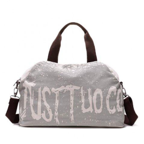 Best Canvas Graphic Printed Weekend Bag - OFF-WHITE  Mobile